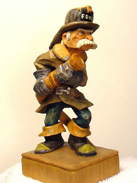 wood carving caricatures